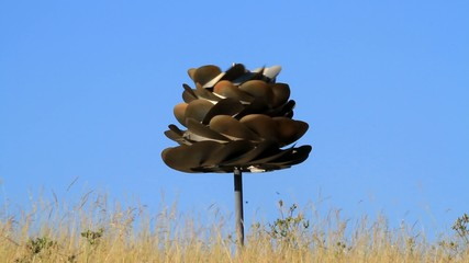 Outdoor revolving sculpture