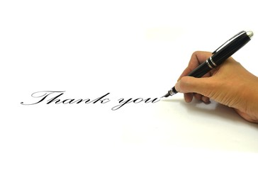 Hand writing thank you