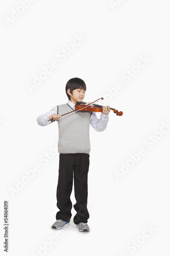 Boy playing the violin