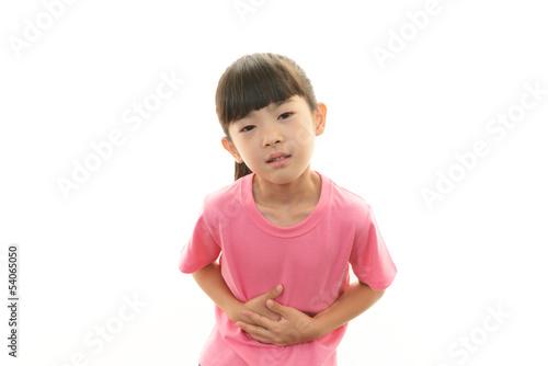 腹痛の女の子