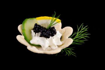 Black Caviar Canape