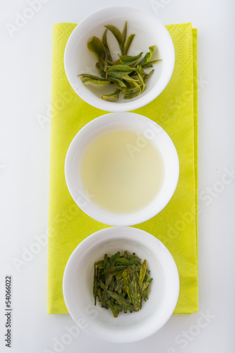 Testing of tea: loose tea, infusion and brewed leaves