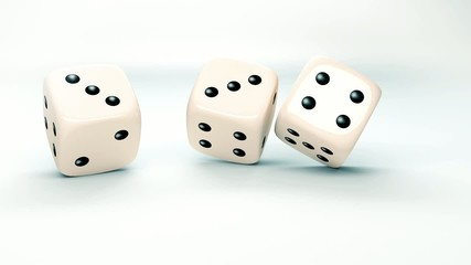 dice rolls in slow motion