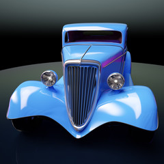 luxury classic hot rod 3d illustration