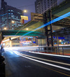 Night move light  in Highway