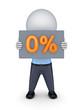 0 percents.