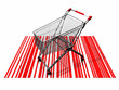 the shopping cart and the bar  codes
