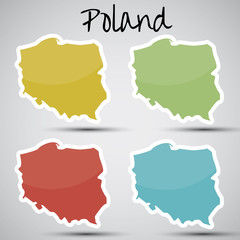 stickers in form of Poland
