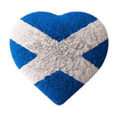Flag of Scotland - Fluffy Heart