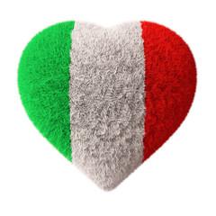 Flag of Italy - Fluffy Heart