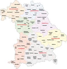 Bayern, Regierungsbezirke, Landkreise