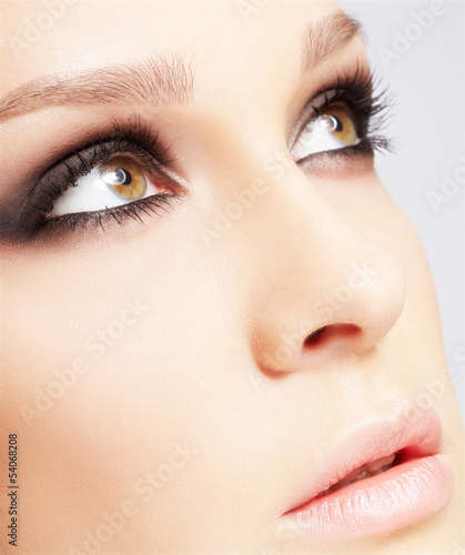 close-up of beautiful woman