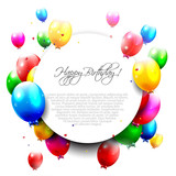 Fototapety Colorful birthday balloons