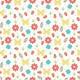 Nature themed seamless pattern