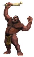 Neandertaler mit Keule 01