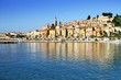 Panoramic View of Menton on the french Riviera in the South of F