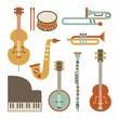 Jazz instruments set. isolated on white - 54071491