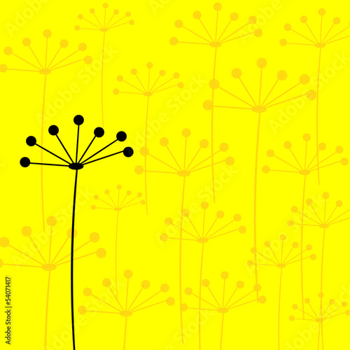 Floral background yellow