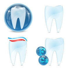 dental icons isolated on white background