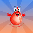 Blood drop for donation