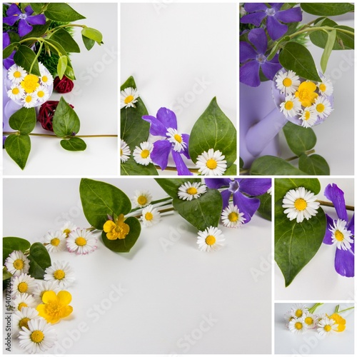 Collage Blumengrüße