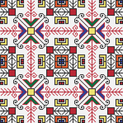 Ukrainian ethnic seamless ornament, #77, vector