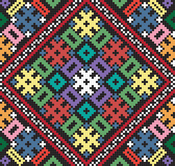 Ukrainian ethnic seamless ornament, #75, vector