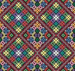Ukrainian ethnic seamless ornament, #76, vector