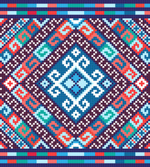 Ukrainian ethnic seamless ornament, #73, vector