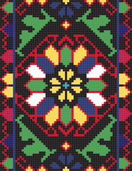 Ukrainian ethnic seamless ornament, #66, vector