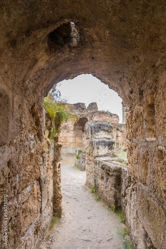 Poster Tunesië ancient ruins of Carthage, Tunisia