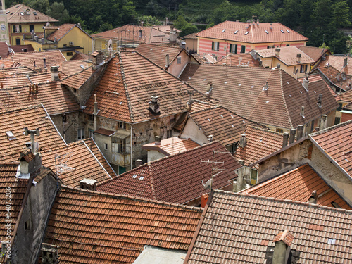 View on the roofs of an Italian town