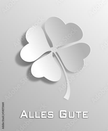 Kleeblatt weiß