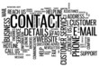 """CONTACT"" Tag Cloud (call us details support customer service)"