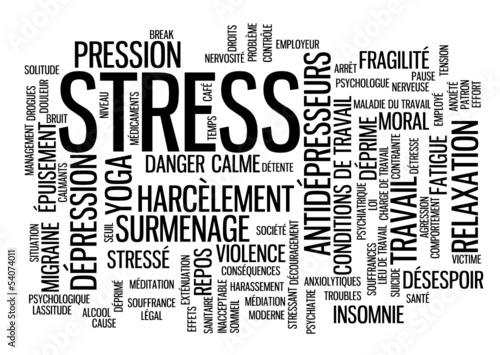 """Nuage de Tags """"STRESS"""" (anxiété dépression surmenage insomnie)"""