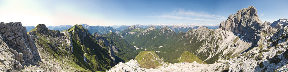beautiful scenic view of the dolomites mountain, monte duranno,