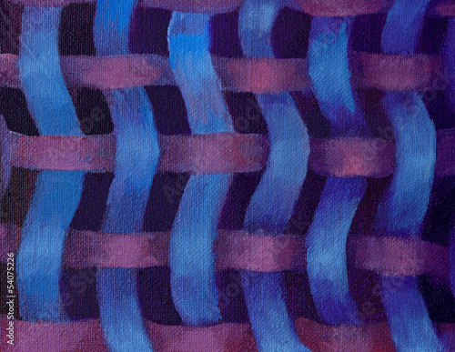 Blue and Purple Stripes Tangle