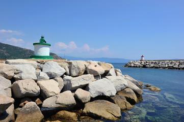 Passe d'entrée du port de Cargèse