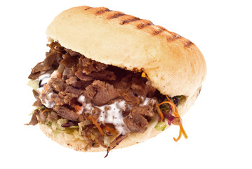 Doner kebab isolated