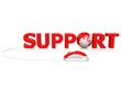 Support with globe