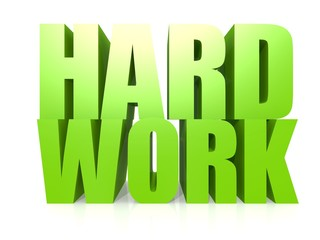Hard work word