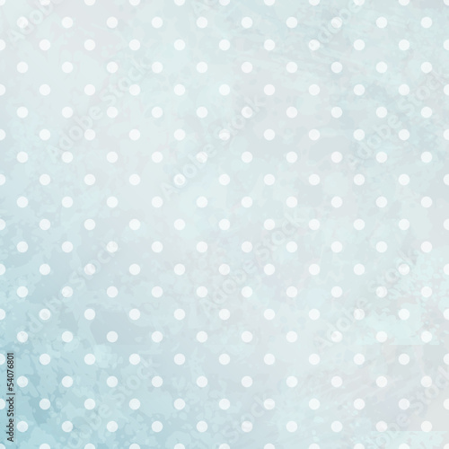 Retro Background Big Dots Blue - 54076801