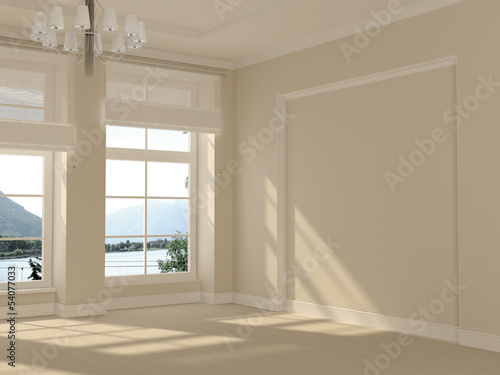A light room with panoramic windows
