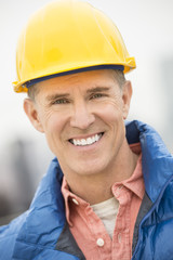 Portrait Of Happy Construction Worker