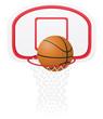 basketball basket and ball vector illustration