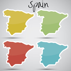 stickers in form of Spain