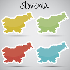 stickers in form of Slovenia