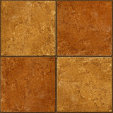 Ceramic two-tone brown stone tiles seamlessly tileable poster