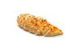 gebratenes Hühnerbrust Filet mit Pfeffer aufgeschnitten