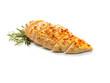 gebratenes Hühnerbrust Filet mit Rosmarin aufgeschnitten